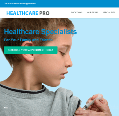 Healthcare Pro- A responsive Health care service provider based WP theme