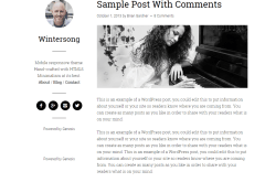 Home page of Blog theme showing different blog posts