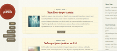 Home page  of DailyJournal theme showing blog posts