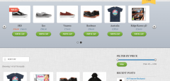 Home page of Shopo theme
