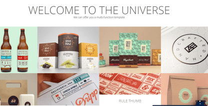 Home page of Universe theme