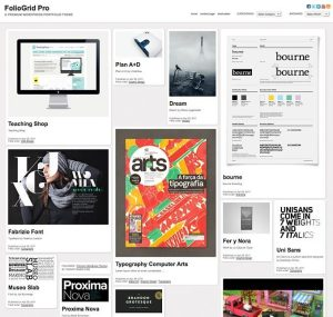 Homepage of Foliogrid pro