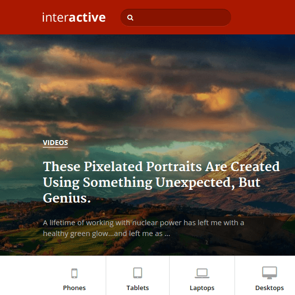 Interactive – WordPress Theme