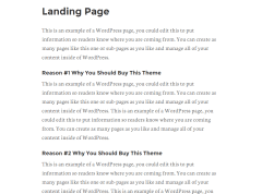 Landing page of Remobile Pro theme