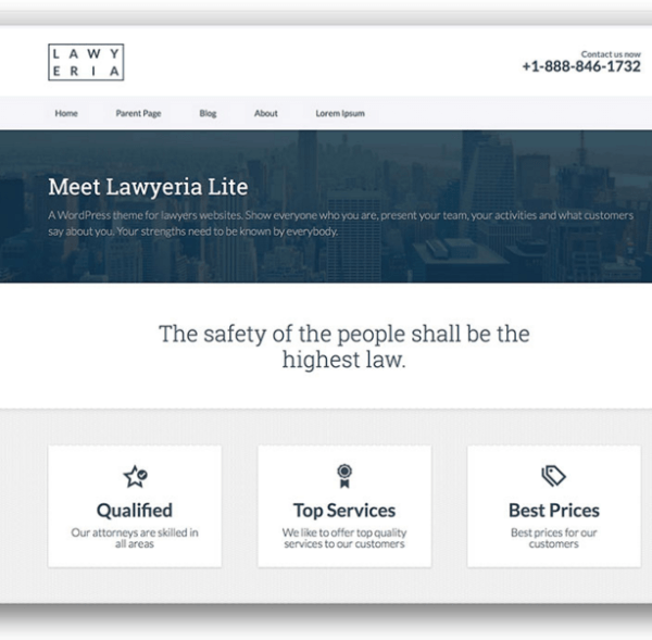 Lawyeria Lite- Free Best Business WordPress theme