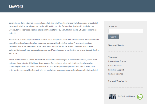 Lawyeria Lite theme with Lawyers page