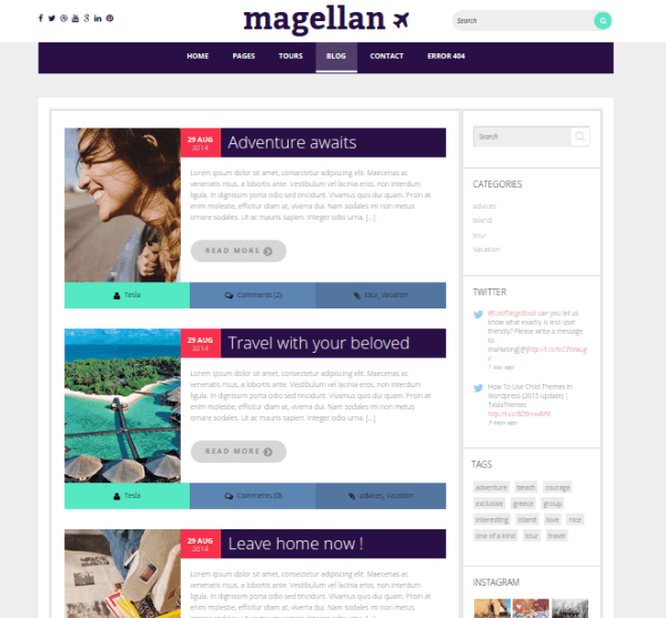Magallen-WordPress-Theme-Blog-Page