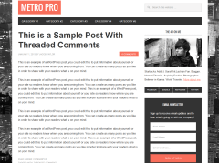 Metro Pro- Simple blog page of this theme