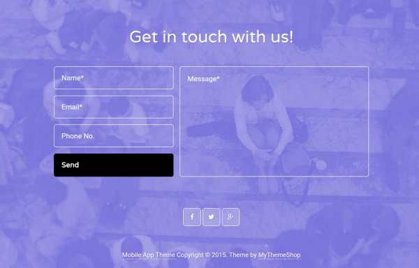 Mobile App Contact Page