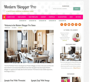 Modern Blogger Pro - Blog WordPress theme