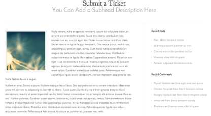 Modest- Page template with right sidebar & fullwidth is supported