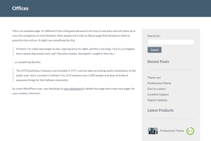 Office page template of Lawyeria Lite theme