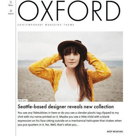 Oxford - Contemporary Magazine theme