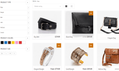 Panthea- Products page of this theme