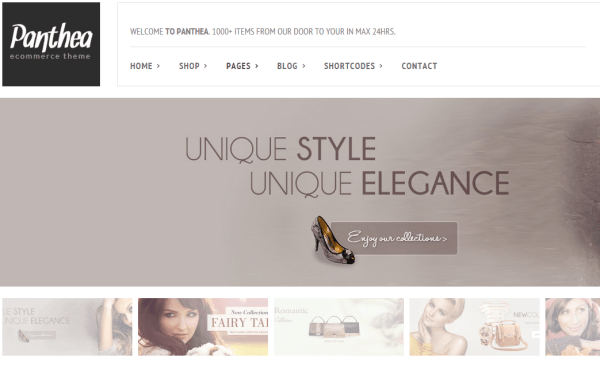 Panthea- Thumbnails slider is another slider provided by this theme