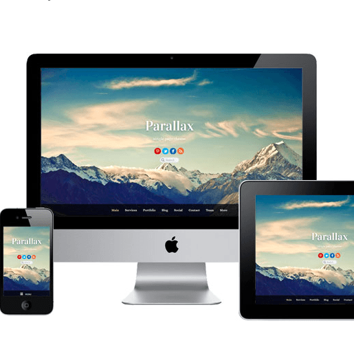 Parallax – One Page theme.