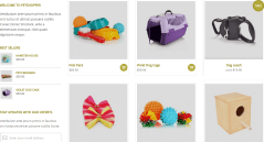 Petshopper- Front page featuring products