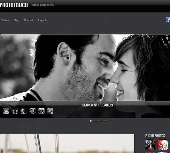 PhotoTouch- Beautiful photo theme designed with mobile devices in mind