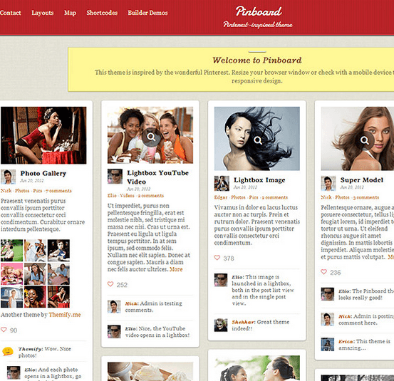 Pinboard - Inspired by wonderful Pinterest