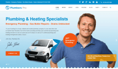 Plumber Pro- Home page featured with slider