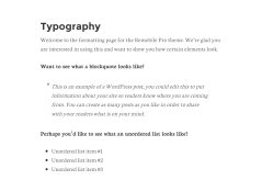 Remobile Pro showing typography page