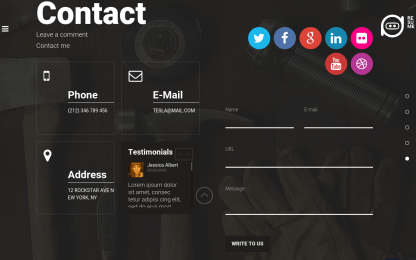 Resume-Contact-Page