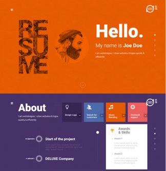 Resume - Creative CV WordPress Theme