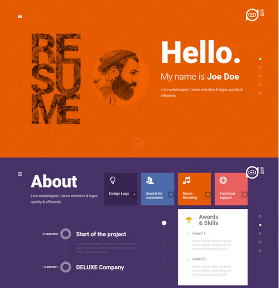 Resume – Creative CV WordPress Theme