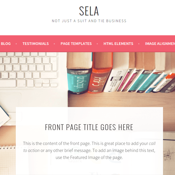 Sela – WordPress Theme