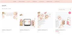 Shop page of Darling Theme