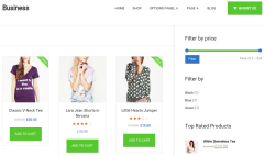 Shop page of business