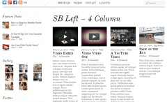 Simfo- 4 column with left sidebar is another layout for for blog