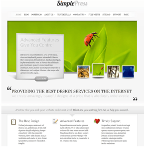 SimplePress is the theme which helps to build business oriented websites
