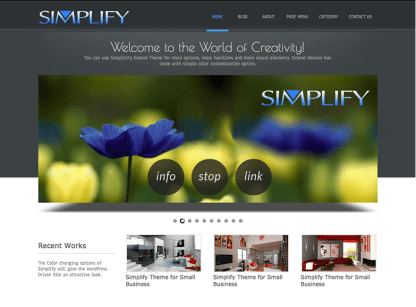 Simplify Home Pages
