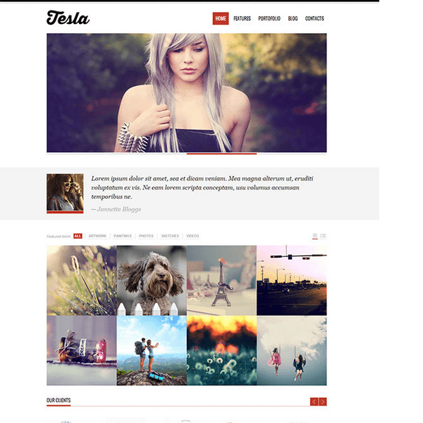 Tesla - Free Premium WordPress Theme