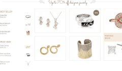 The Jewelry Shop- Shop page of this theme