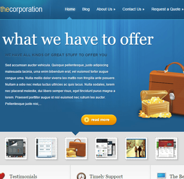 TheCorporation- A Business WordPress theme