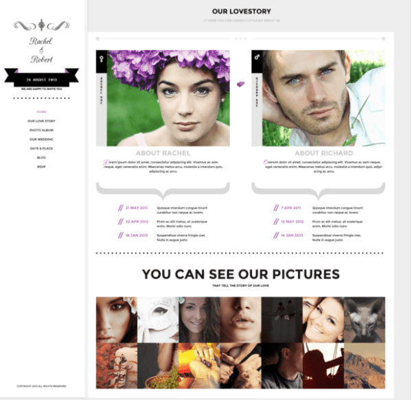 Wedding Day – Wedding WordPress theme