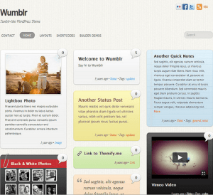 Wumblr- A Responsive Tumblr inspired theme for blog sites