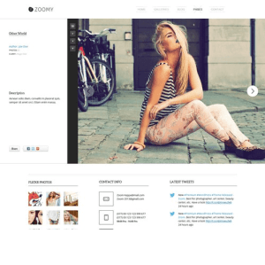 Zoomy - Best Photography WordPress theme