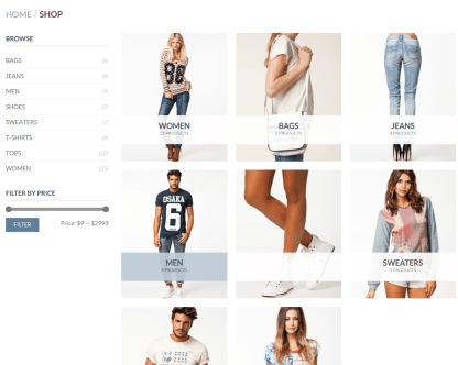 shop Page on Flatsome