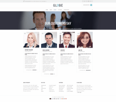 testimonial-Globe WordPress Theme
