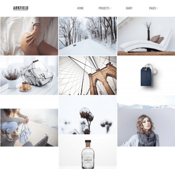 ARKFIELD – An Elegant WordPress Portfolio theme