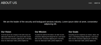 About us page of bodyguard