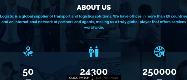 About us page of logistic