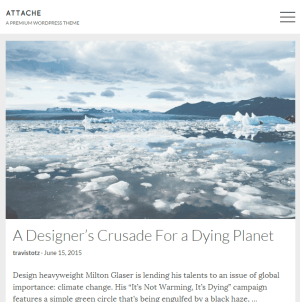 Attache- A responsive WordPress theme for bloggers and story tellers