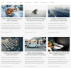 Auriga- Front page with blog grid layout