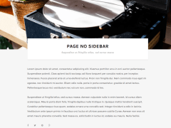 Auriga- Page with no sidebar