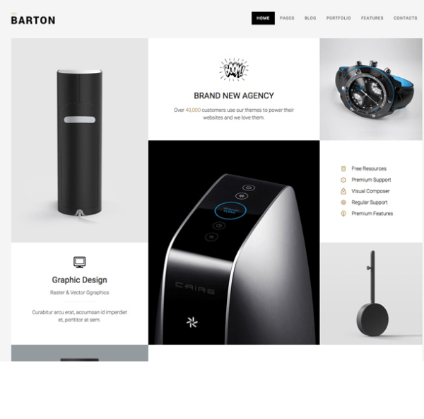 BARTON – SMART portfolio theme