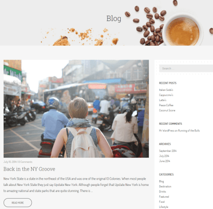 Blog page of Cafe Elements